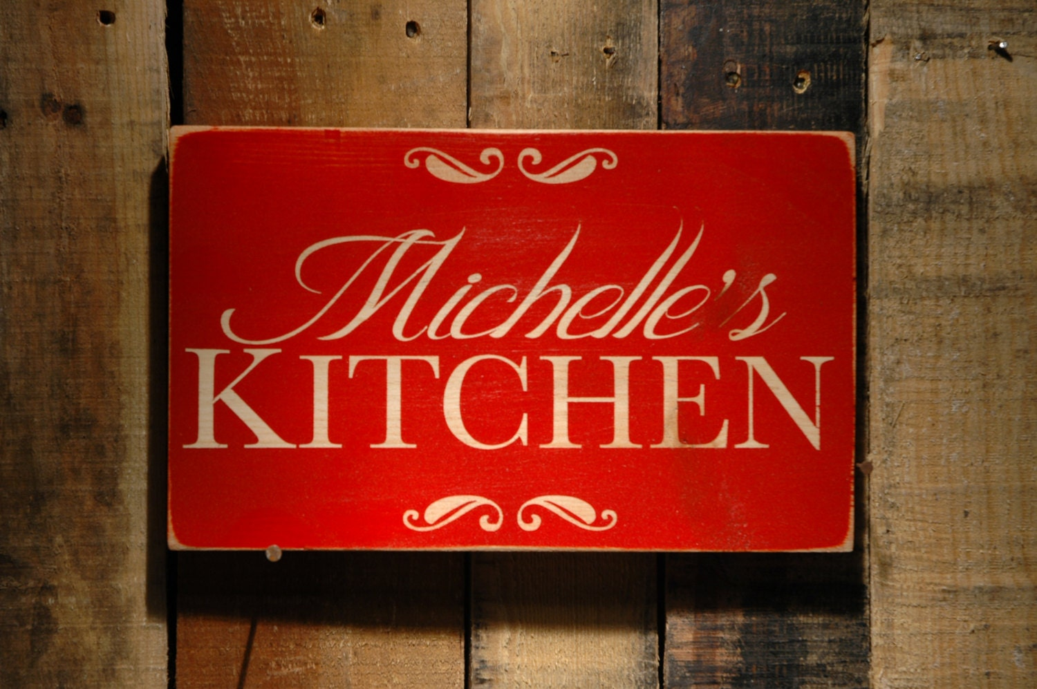 Personalized Wood Kitchen Signs