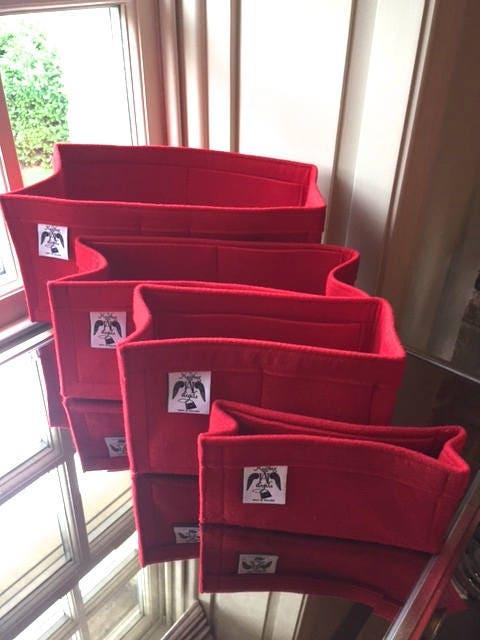 Handbag Angels Liner Insert Organiser for Alexa in Rioja Red Mandarin Orange Regal Blue Mottled Steel Grey  Scarlett Red