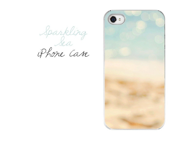 Beach iPhone Case - Sparkling Sea Photography iPhone 4/4s 5 Hard Case - Pastel Beach Photography Ocean iPhone Case