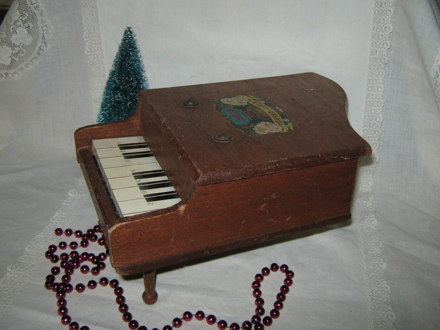 Toy Wooden Baby Grand Piano by MamaSaidVintage on Etsy
