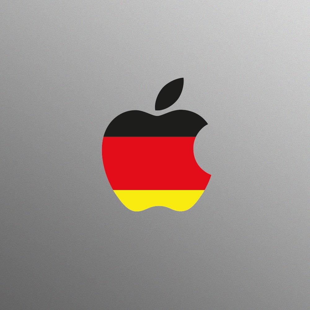 German Flag Decal Laptop Sticker for Apple MacBook  Pro  Air