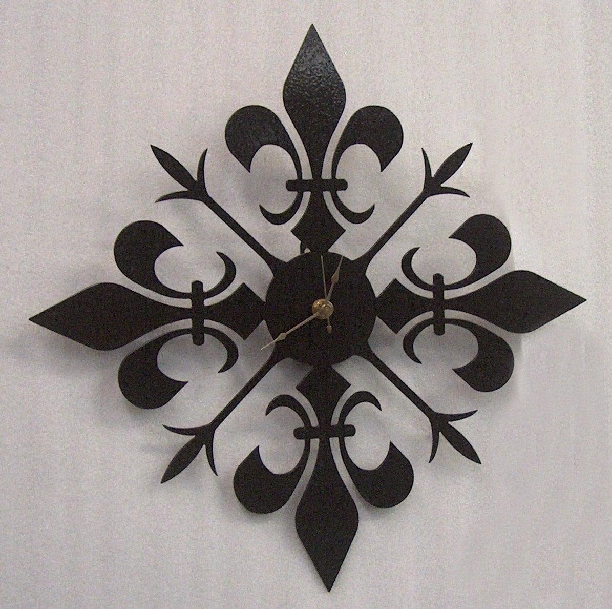 Fleur De Lis Metal Art Clock Free Usa By Knobcreekmetalarts
