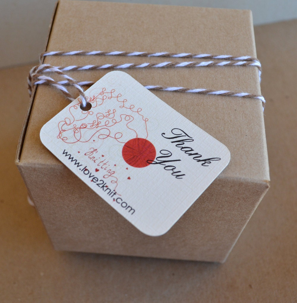 Knitting Gift Tags : Items similar to knitting thank you tags gift oval
