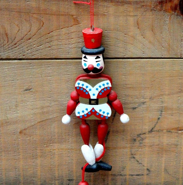 Wood christmas pull string solider ornament by rustbelttreasures - String ornaments christmas ...