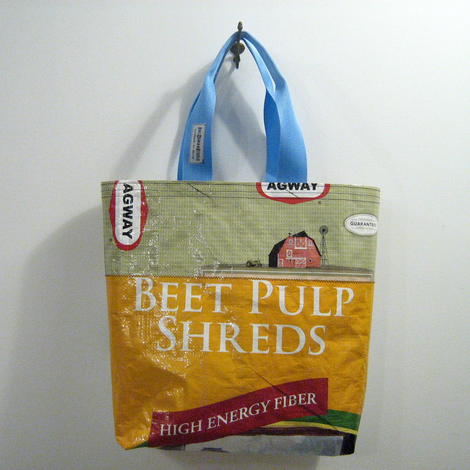 Recycled Feed Bag Tote - OneWomanStudio
