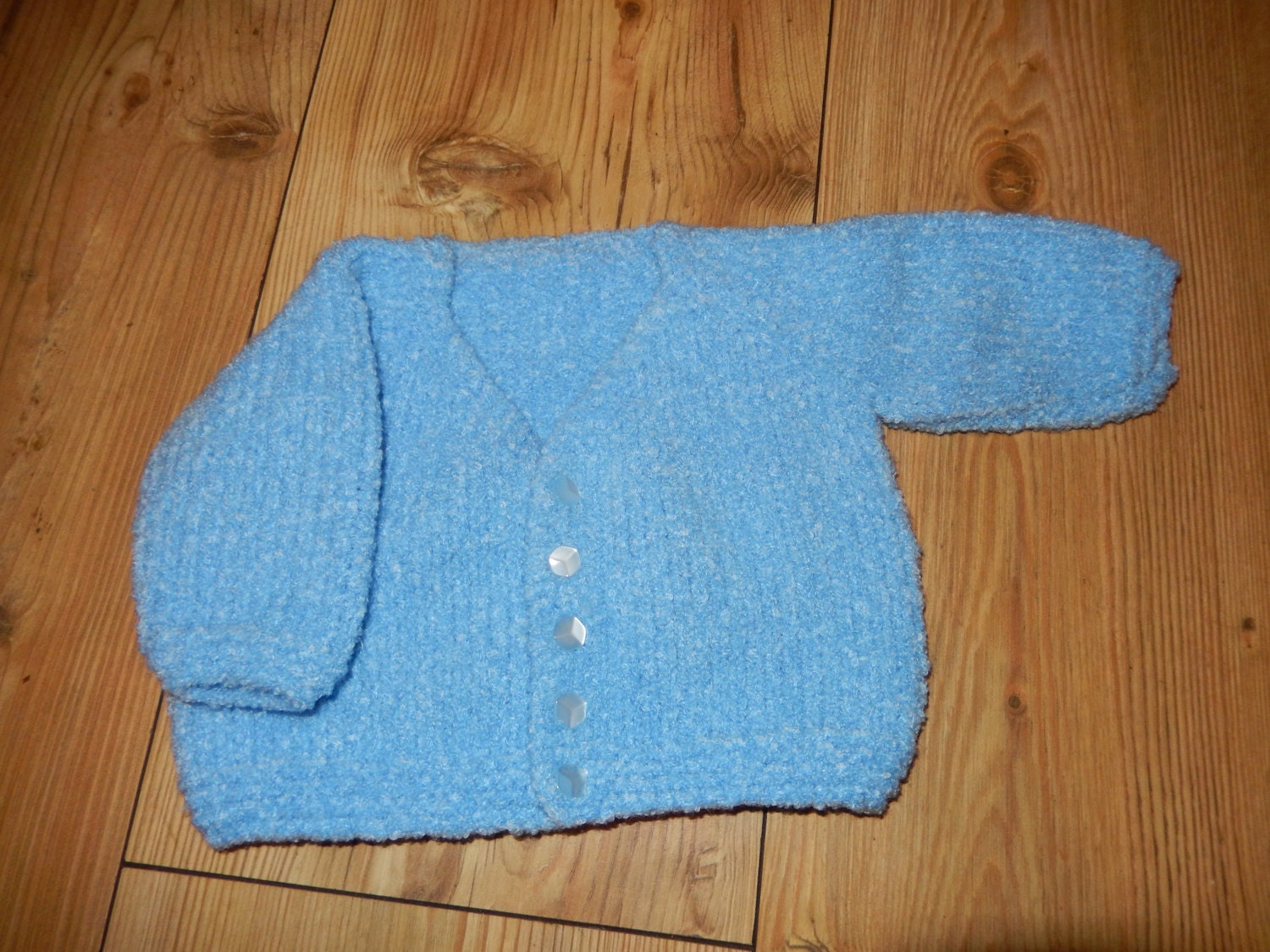 supersoft hand knitted baby cardigan baby sweater blue newborn