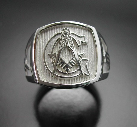 sterling silver mens masonic ring original by prolinedesigns