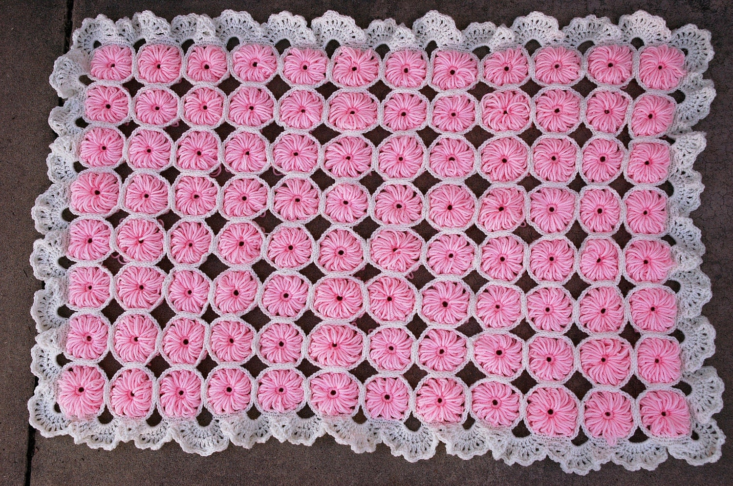 Vintage Crochet Baby Blanket Pattern PDF by juliebell on Etsy