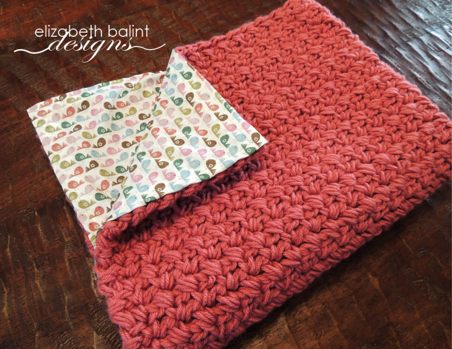 Double Sided Crochet Baby Girl Blanket with by ElizabethBalint