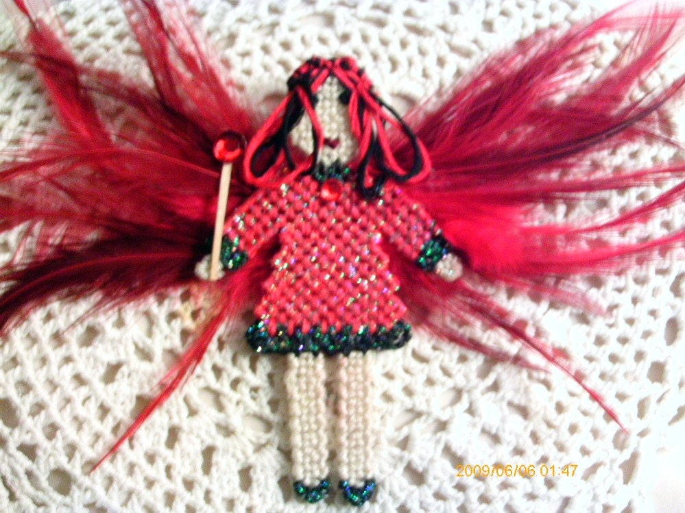 Ofelia the Gothic Red Fairy (faerie) - ghostgap