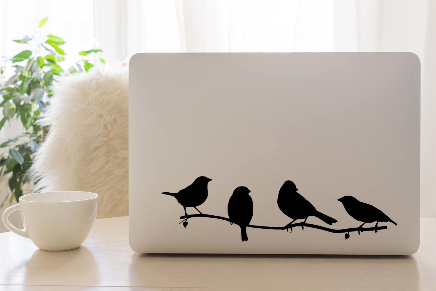 Mac Decal Birds on a branch Apple Macbook and other laptop stickers iPad Sticker iPad Decal