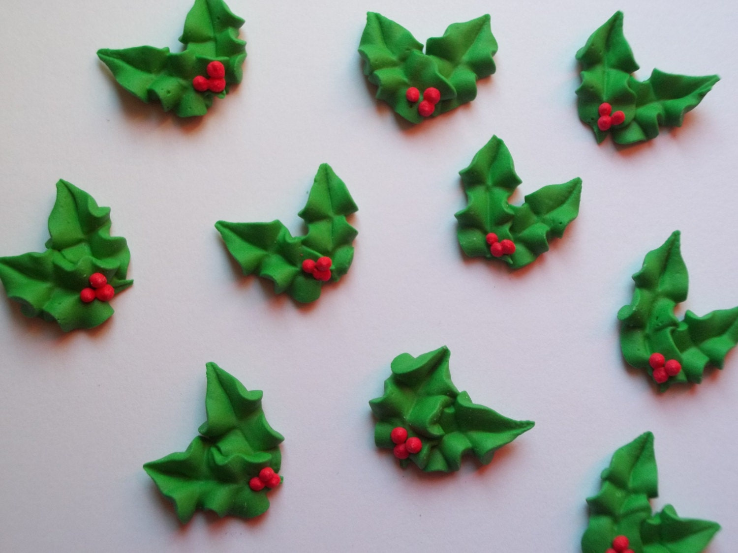 Edible Cake Decorations Holly Leaves : Unavailable Listing on Etsy