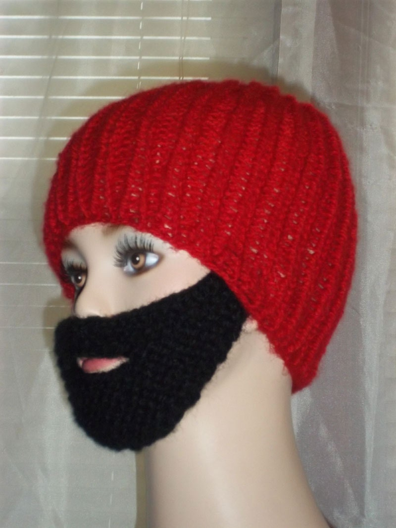 Knitting Patterns By Needle Size : Pattern Bearded Beanie Hat Knitting by KnittingOleBag on Etsy