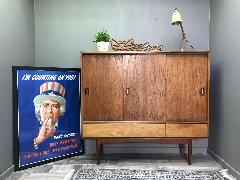 Stunning Retro AUSTINSUITE Sideboard  Vintage Teak TV Unit Cabinet Cupboard