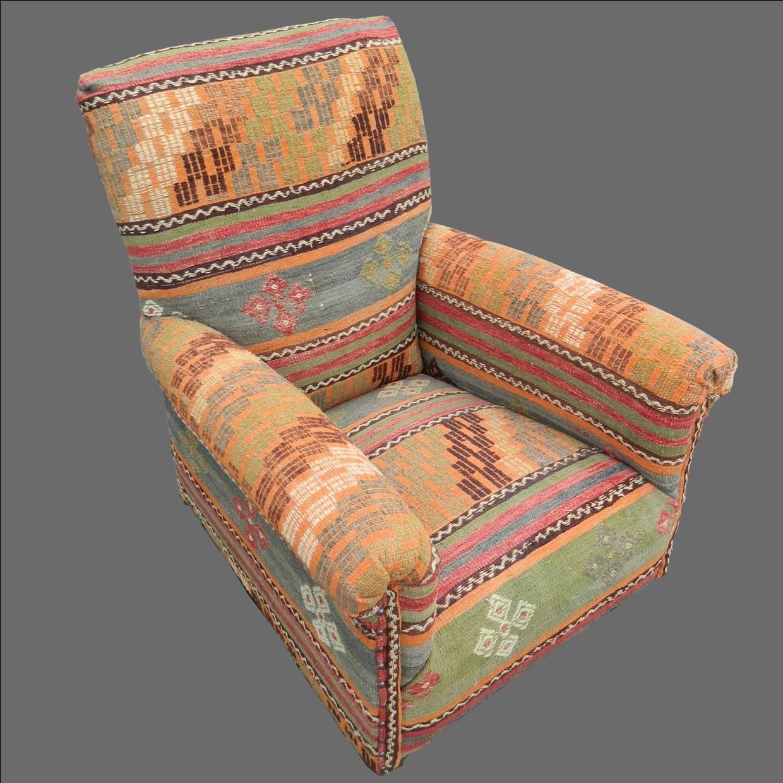 Kilim Covered Antique Armchair