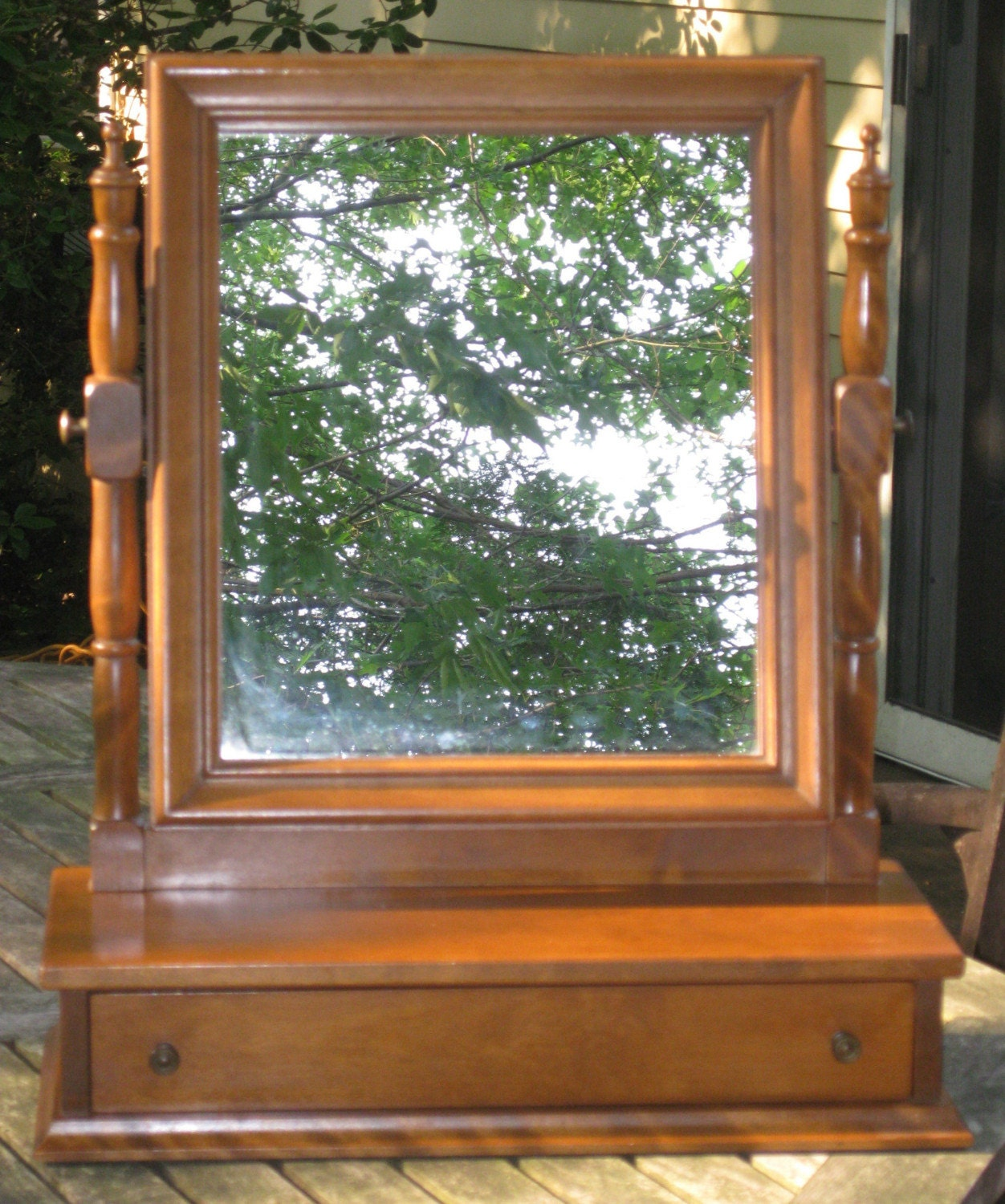 Ethan Allen Shaving Vanity Mirror By By Maggiemaevintage