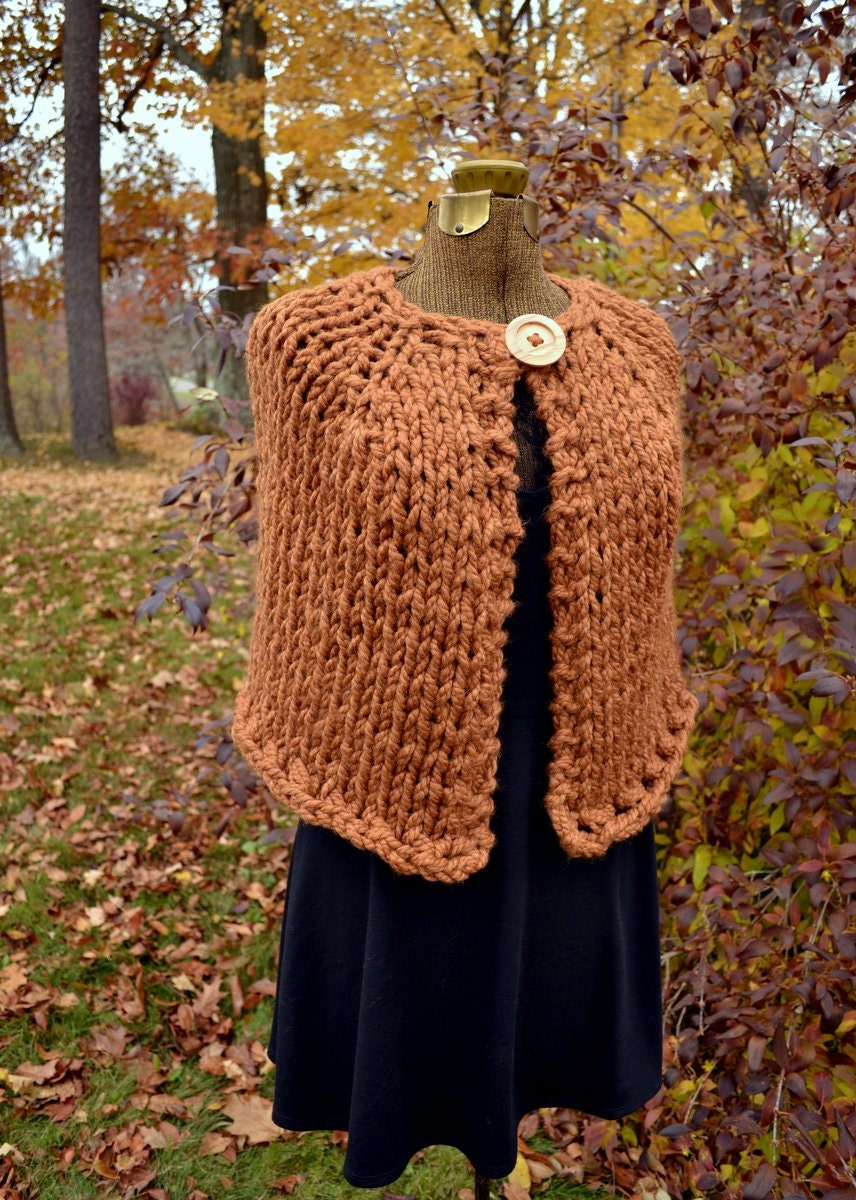 Knitting Pattern Chunky Cape : Unavailable Listing on Etsy