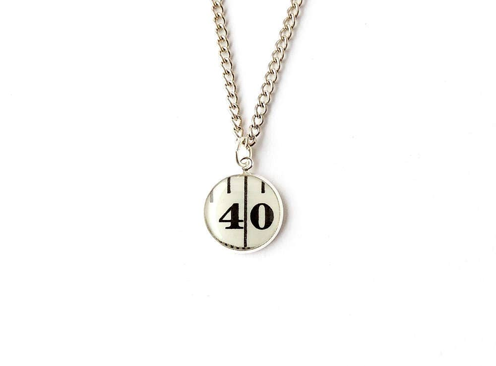 Number 40 Necklace Tape Measure Resin Pendant Sewing Jewellery Resin Jewellery Number Jewellery 30th Birthday Anniversary UK 2153