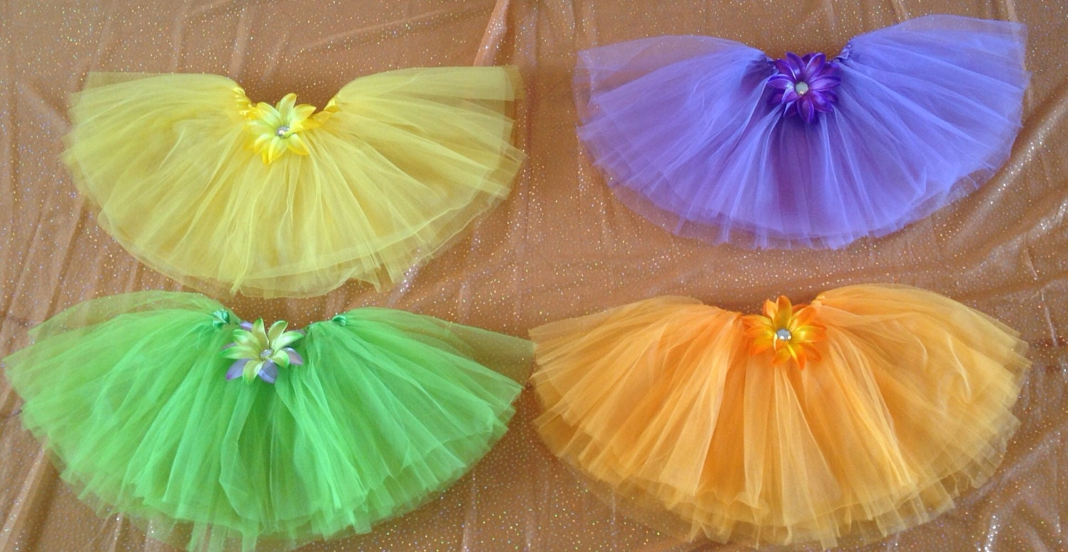 Halloween Fairy Tutu Dress Up Party Favors Witch Candy Corn Frankenstein Orange Purple and Yellow