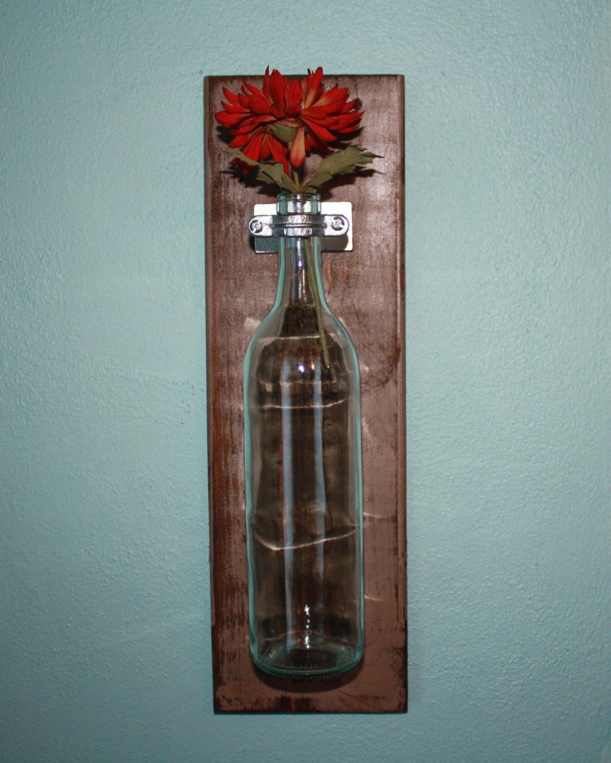 wine bottle wall decor by craftymidwestern on etsy