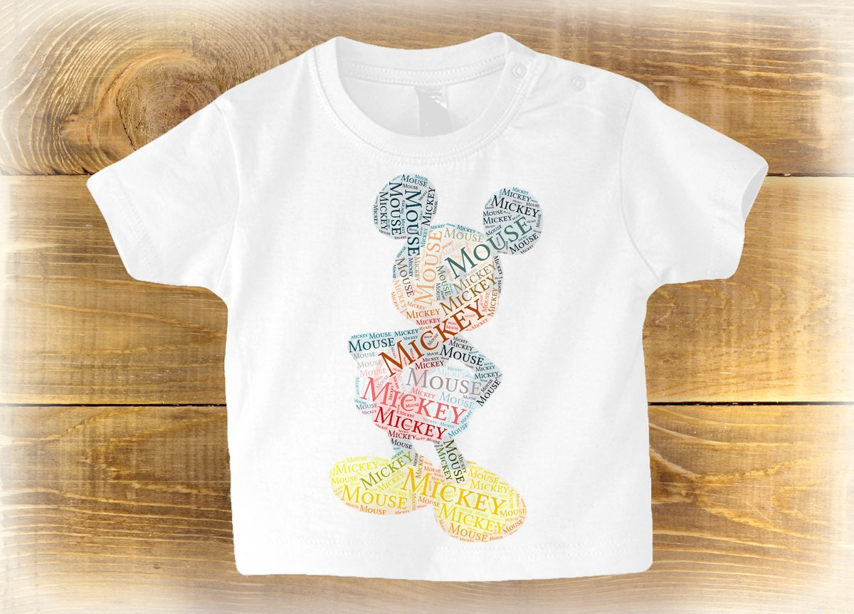 Mickey Mouse T Shirt Cute Baby Gift Personalised Birthday Gifts For Kids Toddler Disney Shirt