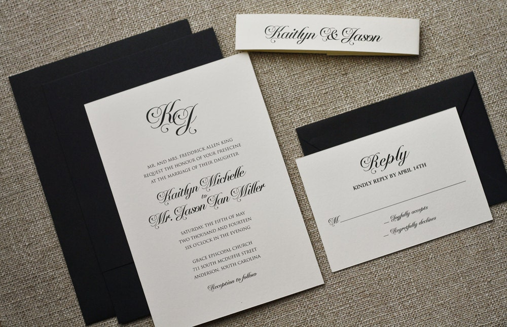 black tie invited wedding invitation wording - 28 images ...