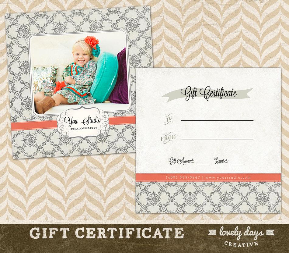 Gift Certificate Psd Template
