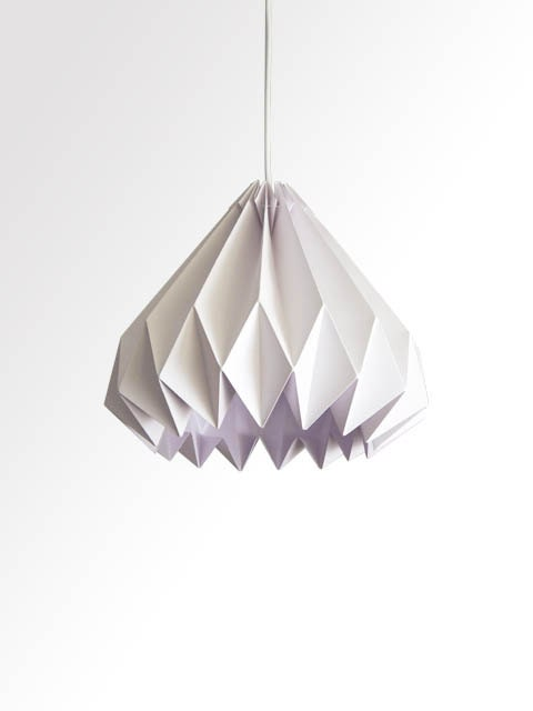 Water Drop / Origami Paper LampShade - White - TwReborn1