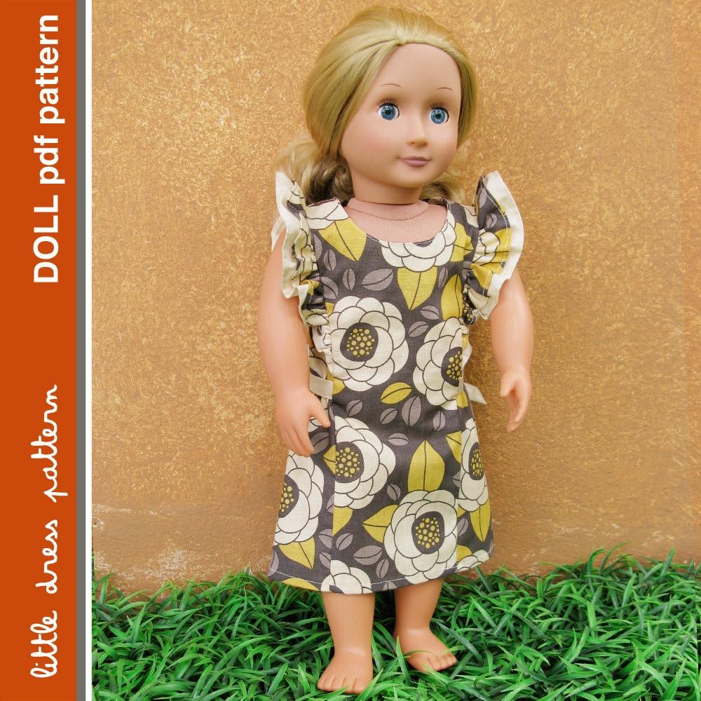 Anya Doll Dress - PDF Pattern - Doll Size 18 inch