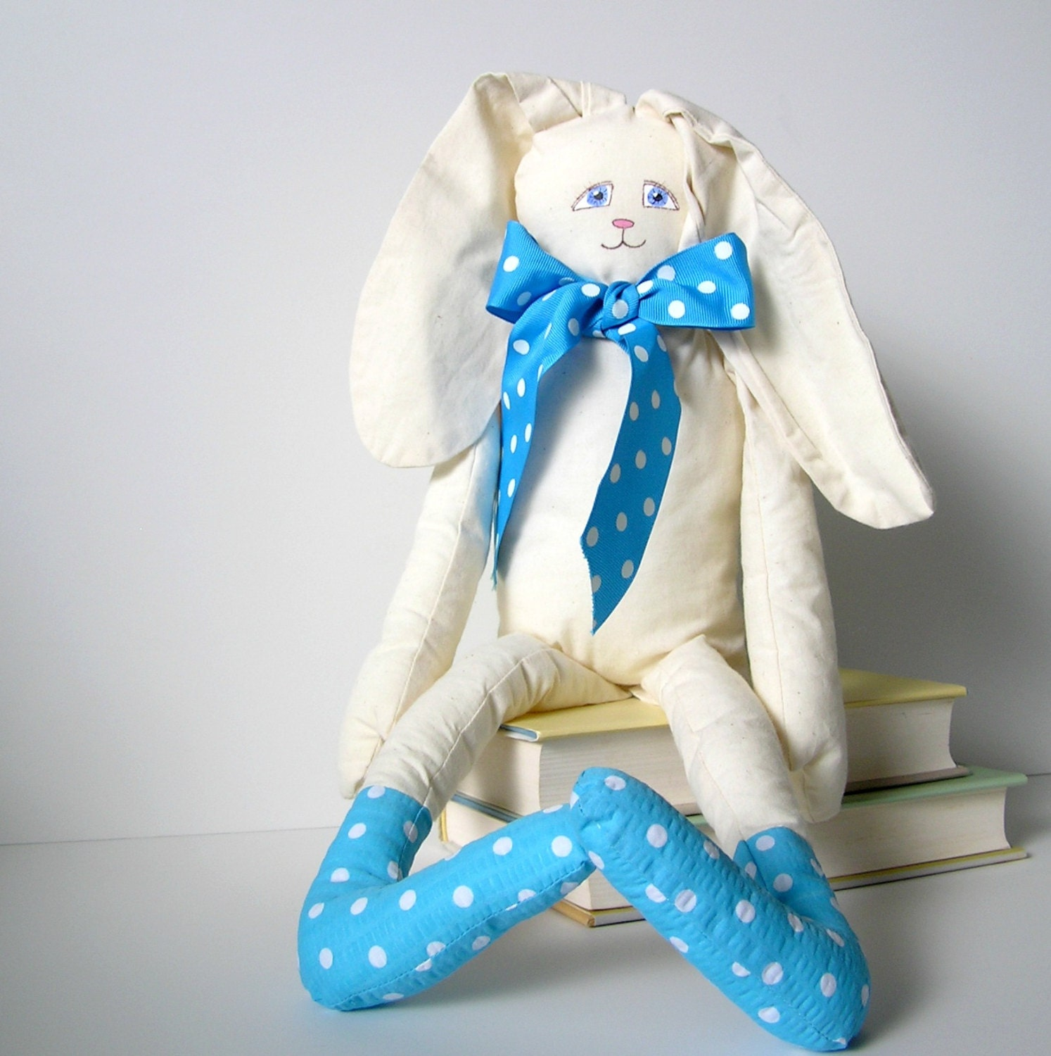 Handmade Bunny Rabbit with hand painted face - OurPicketFence