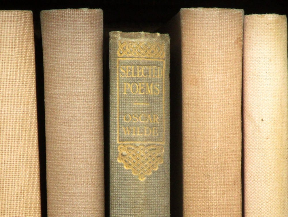 Antique book Oscar Wilde Selected Poems vintage poetry book 1910s book