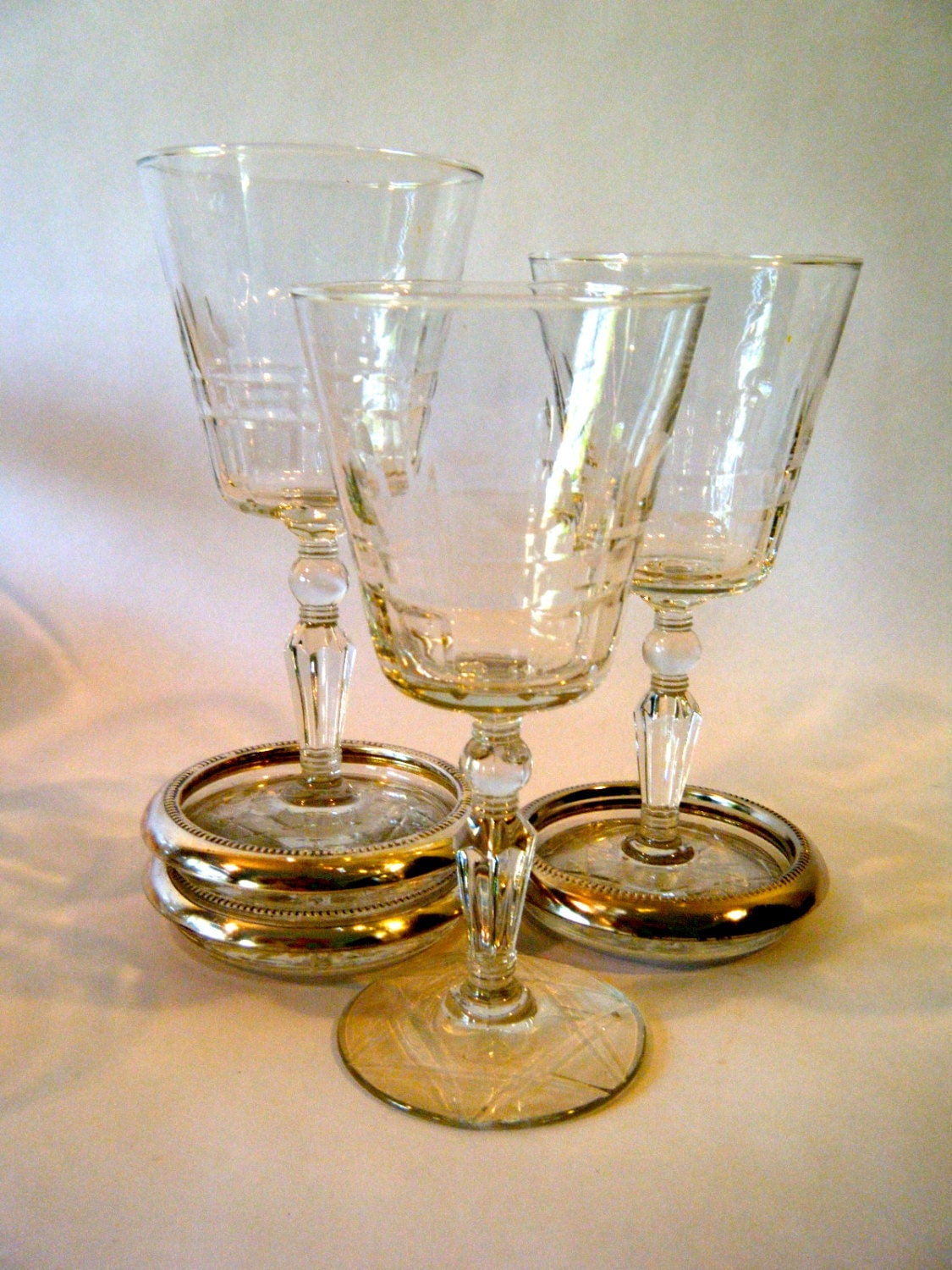Heavy Red Wine : Items similar to heavy cut crystal wine glasses ornate