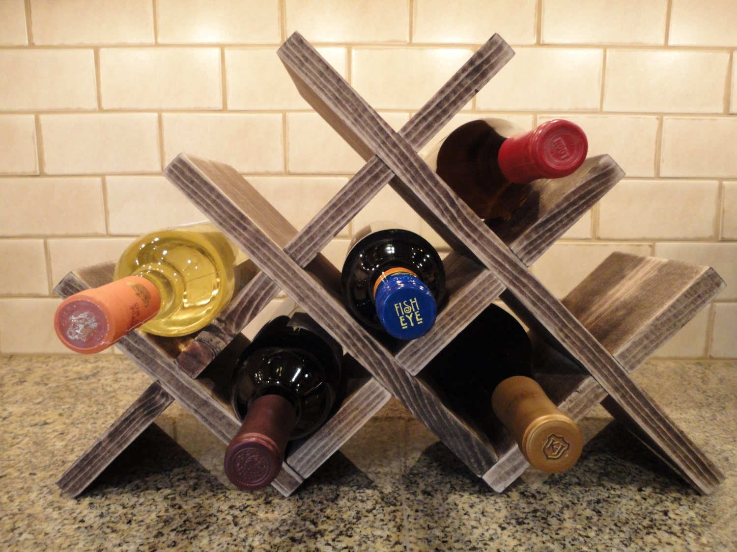 Unavailable listing on etsy for How to make a simple wine rack