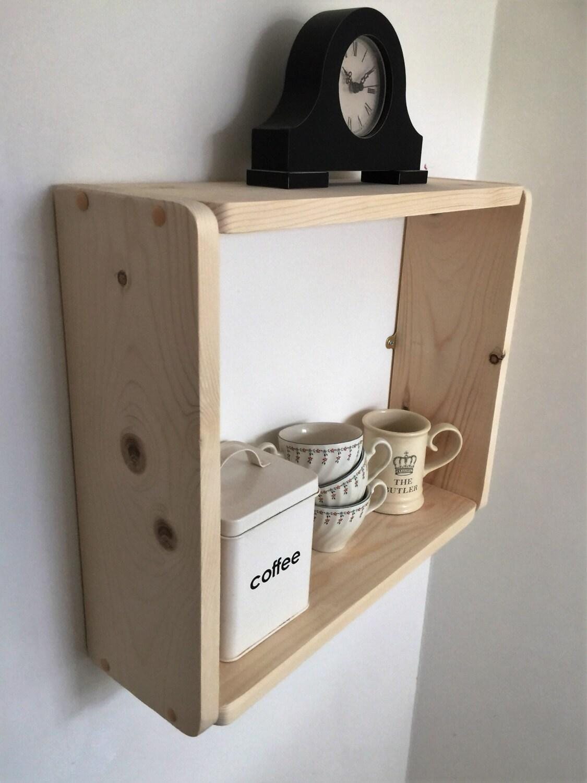 Large Pine Box Shelf Spice Rack Bookcase Kitchen Shelves Bathroom Shelves Bedroom Shelves.