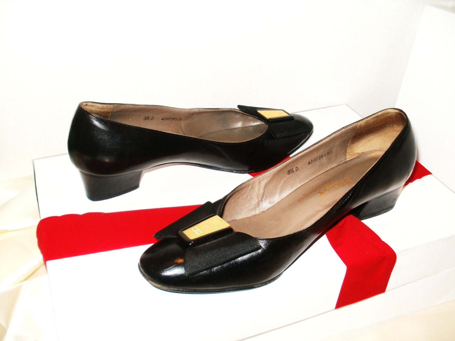 vintage bally shoes black flats bally of by newgroovevintage