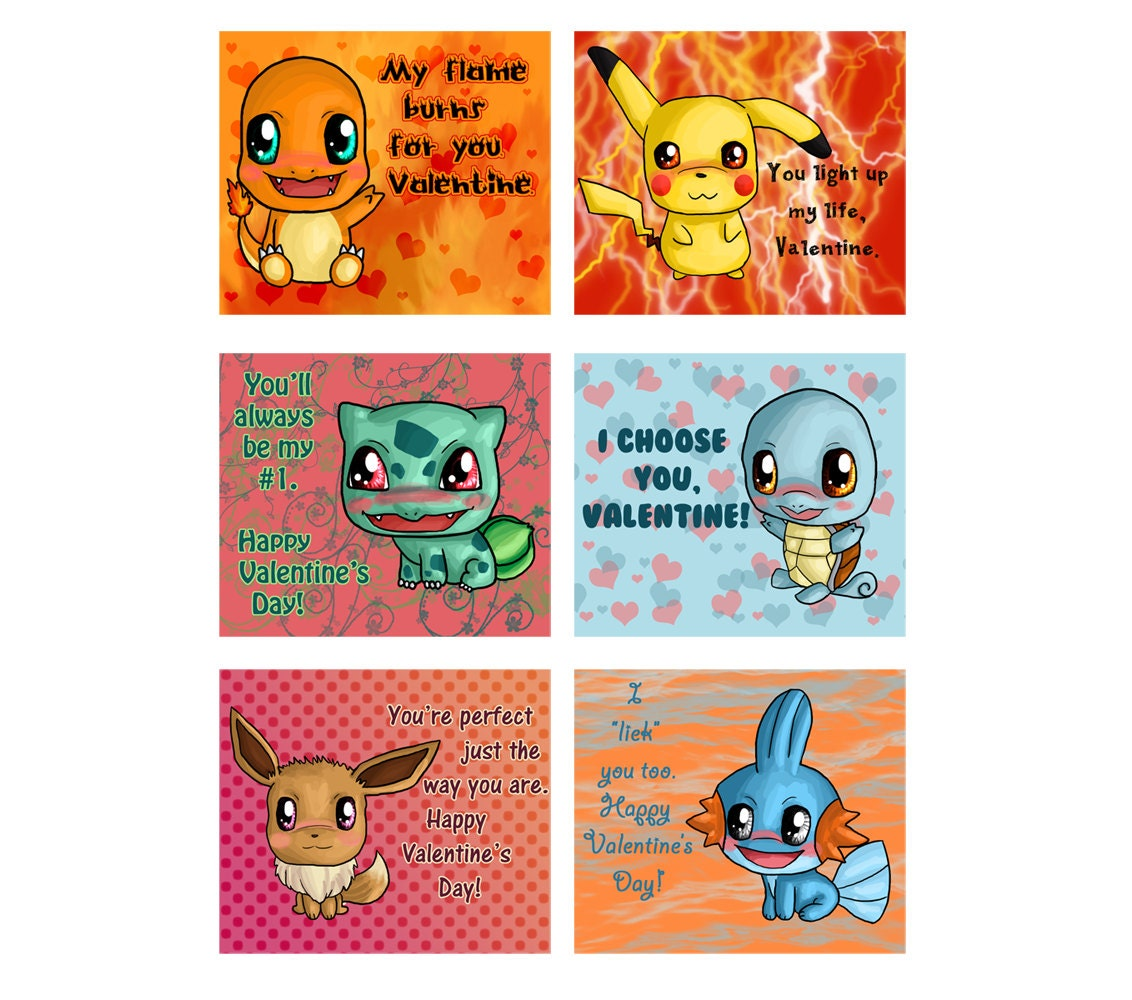 Lively image throughout pokemon valentine cards printable
