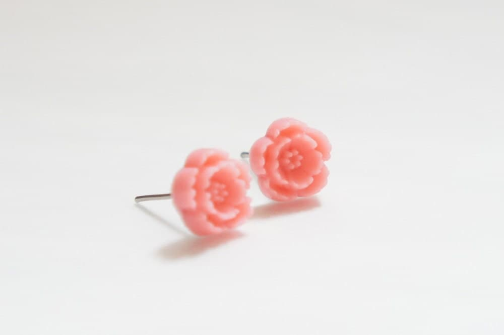Cherry Blossom Post Earrings Pale Hot Pink 1 pair From ihamlt