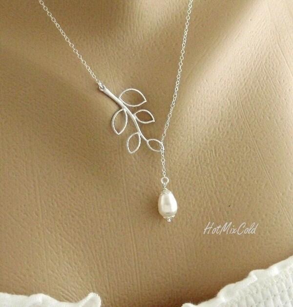 simple wedding jewelry necklace dainty teardrop by hotmixcold