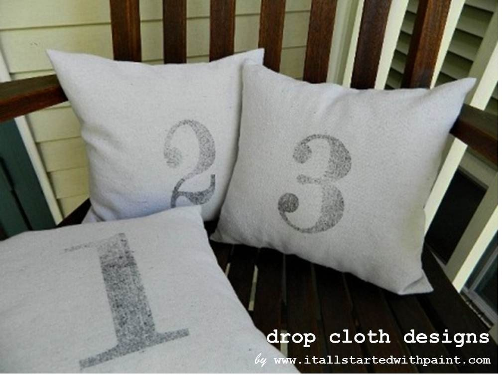 Numbered Pillows - 14 x 14
