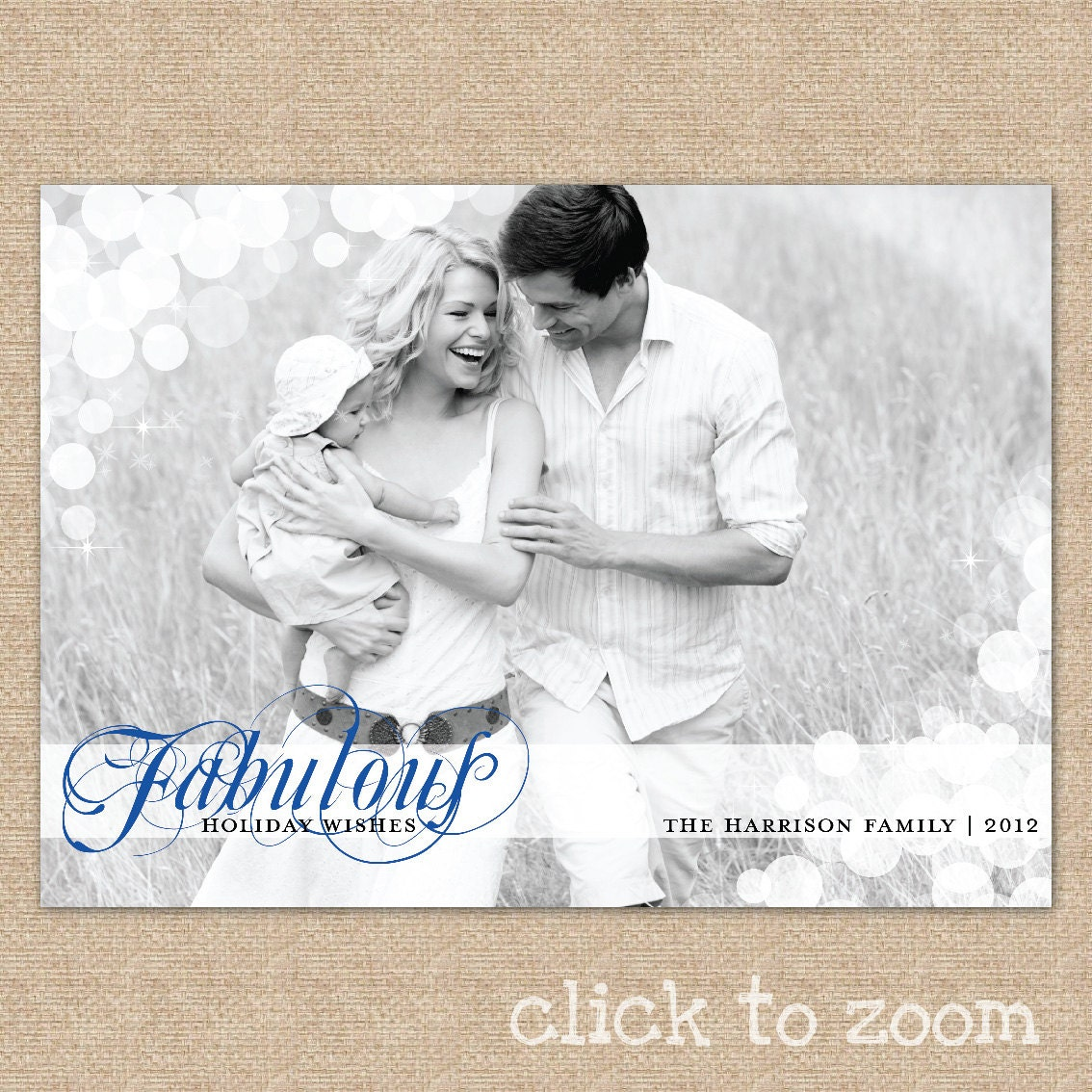 Christmas card Holiday photo card - Fabulous Holiday Wishes - A fully customized and editable photo holiday card