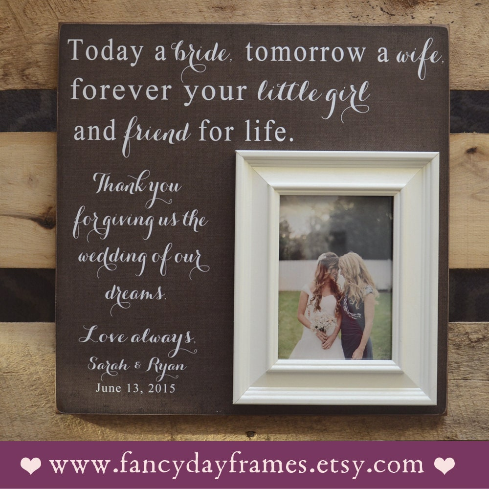 Mother Of The Bride Gift Personalised Picture Frame  Etsy
