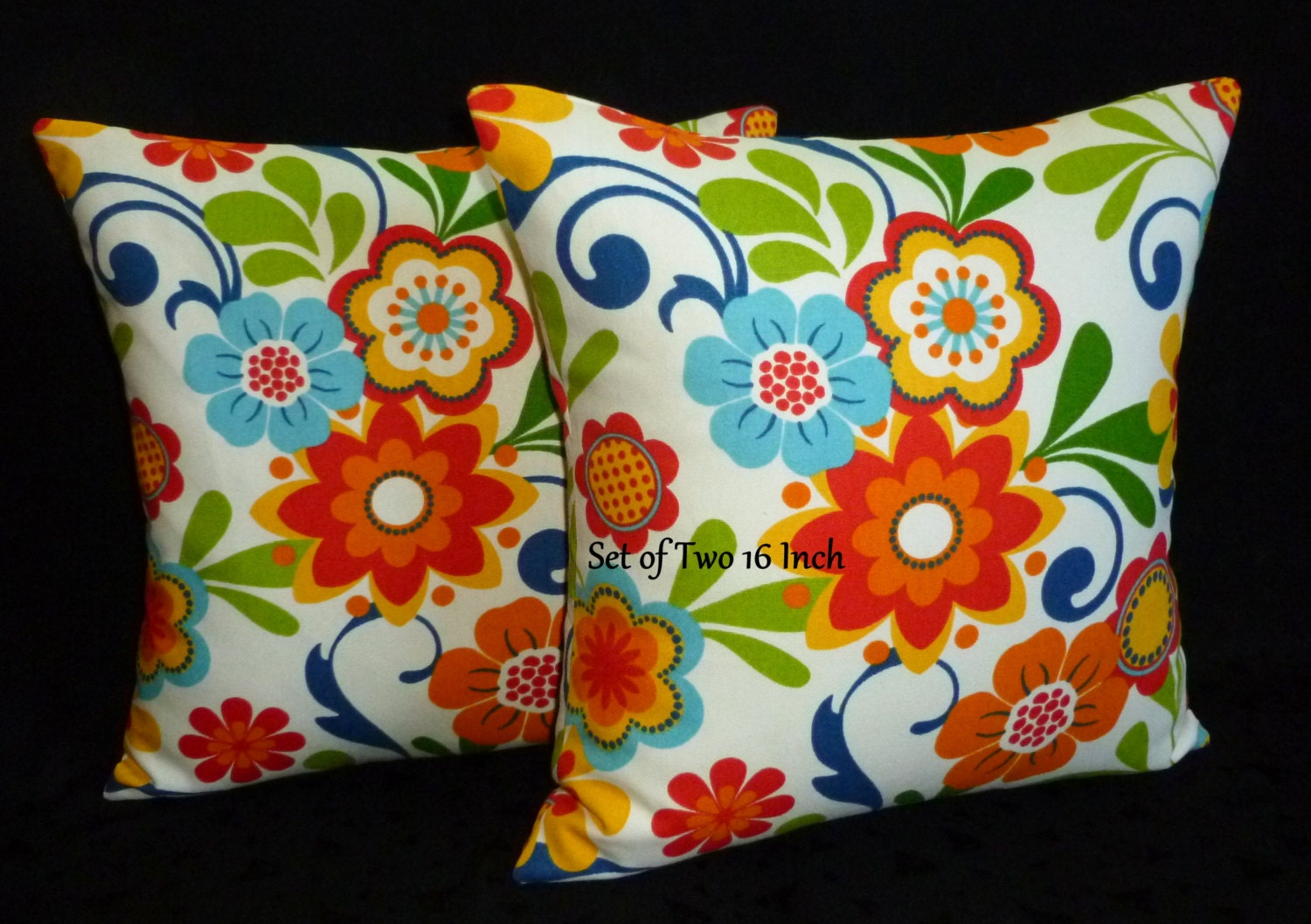 Decorative Accent Throw Pillows Bright Summer Floral by berly731
