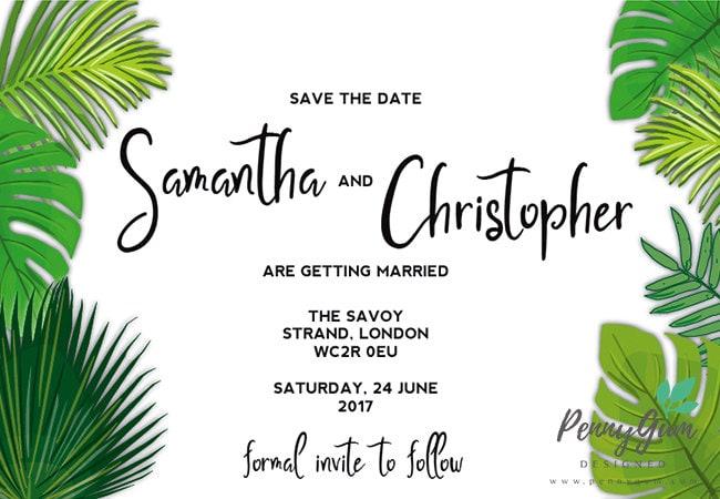 DIY Printable Wedding Stationery Set Editable PDF  Green Gabby