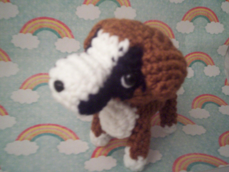 Amigurumi Boxer Dog : Amigurumi Dog - Crochet Boxer Puppy - stuffed animal toy ...