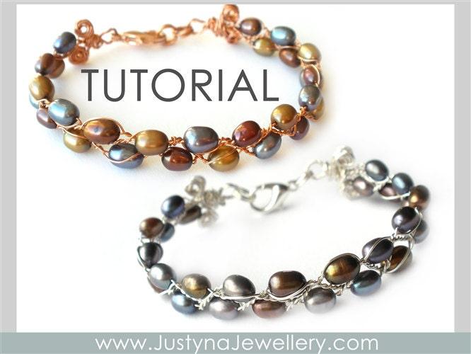 wire bracelet tutorial beading jewelry by justynajewellery