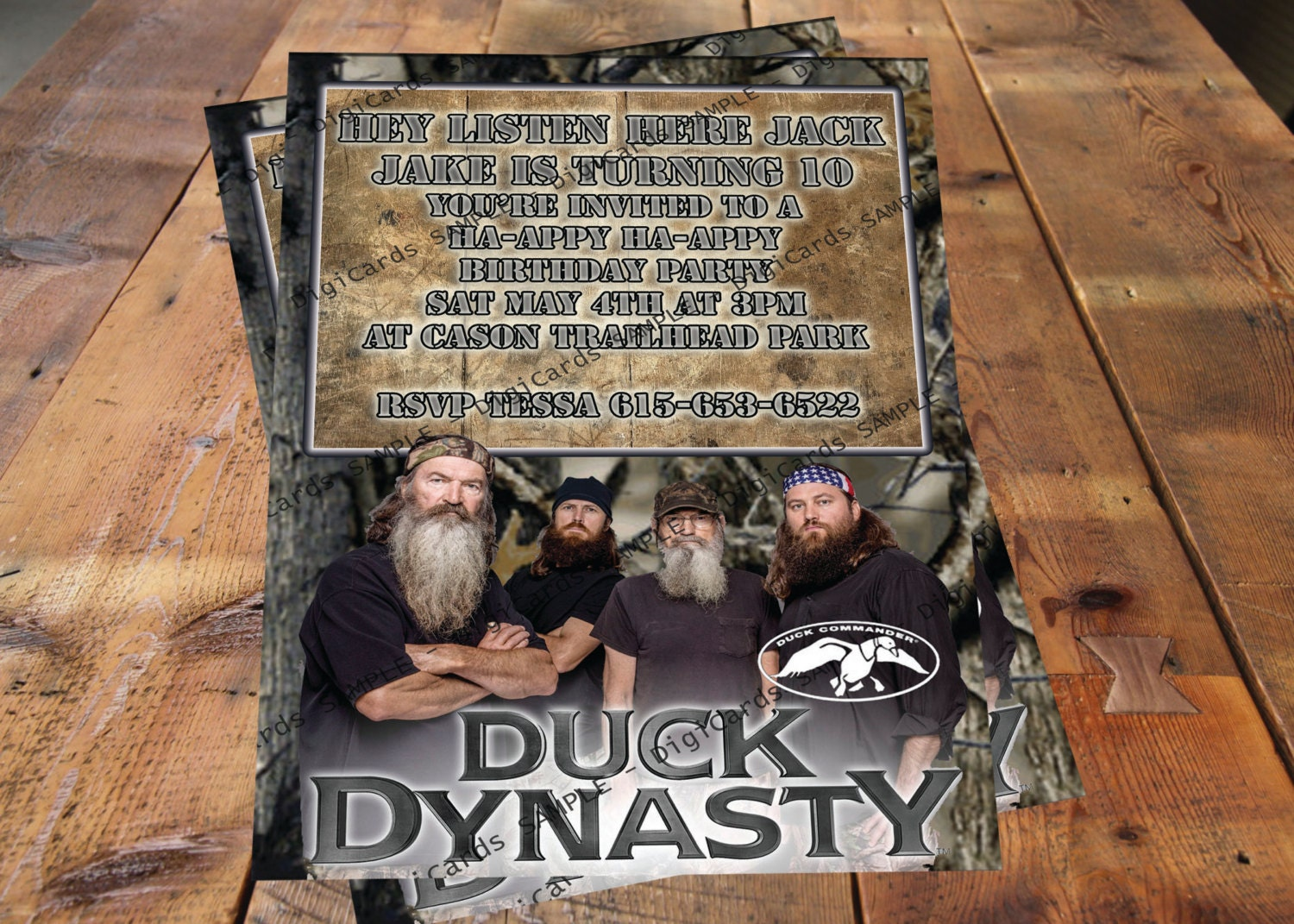 Duck Dynasty Printable Birthday Card