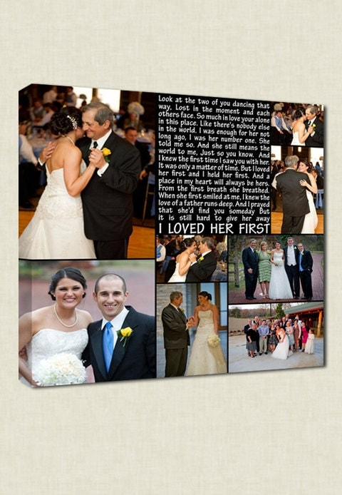 Wedding Gift Father Daughter : First Dance Father Daughter Dance Wedding photo gift Art TEXT Wedding ...