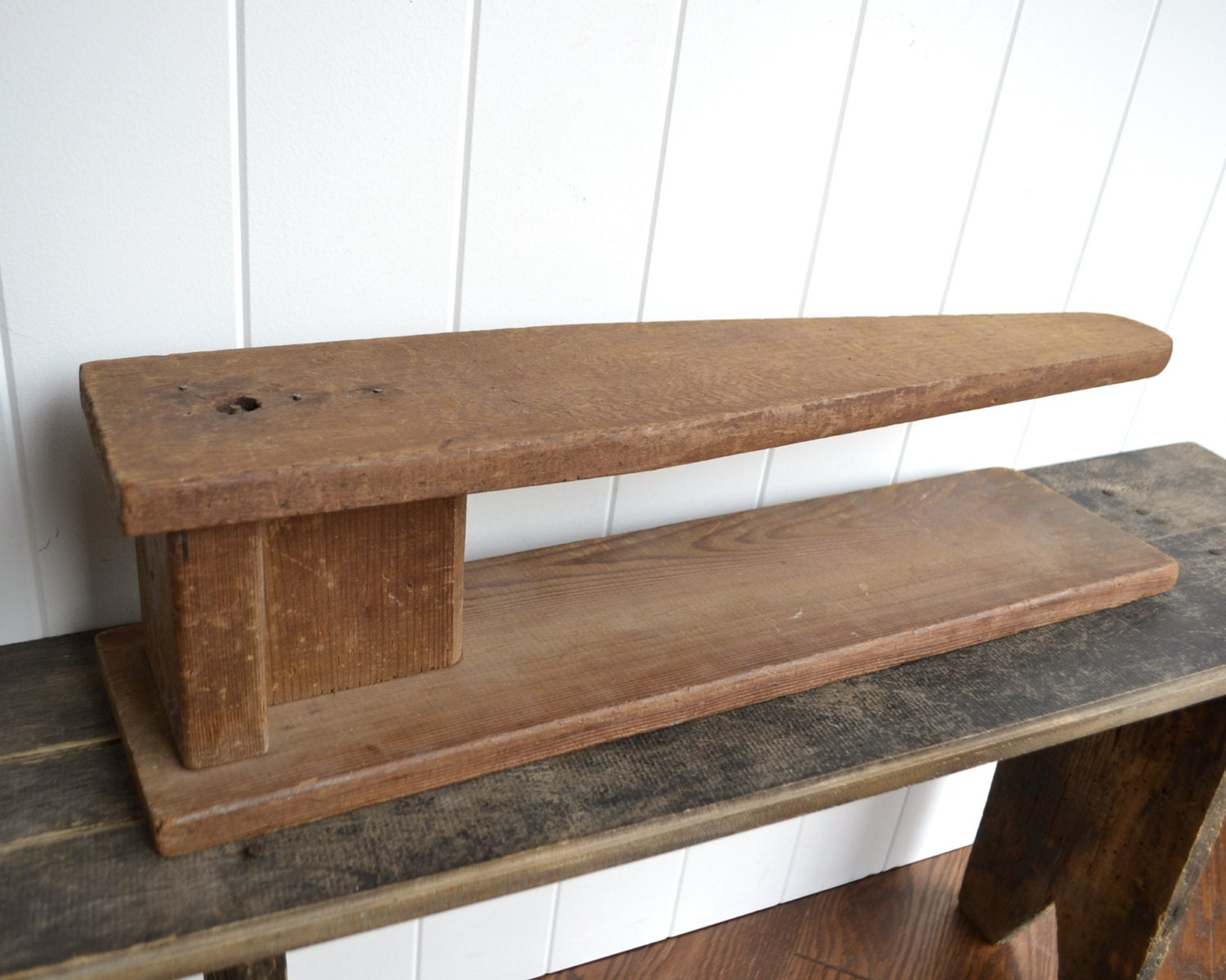 Antique Wooden Ironing Board Wood Tabletop Sleeve By