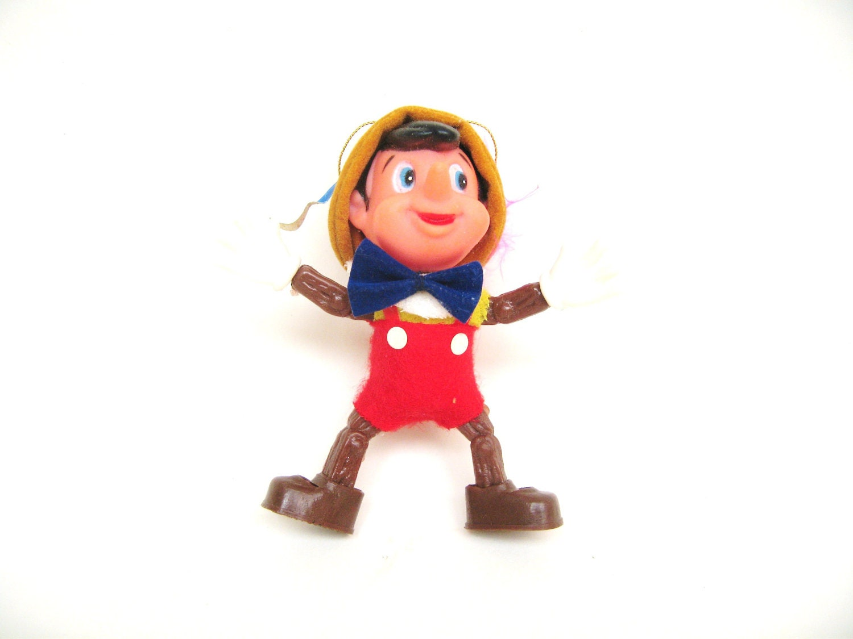 Vintage Pinocchio Christmas Ornament Disney - MoreOfThePast