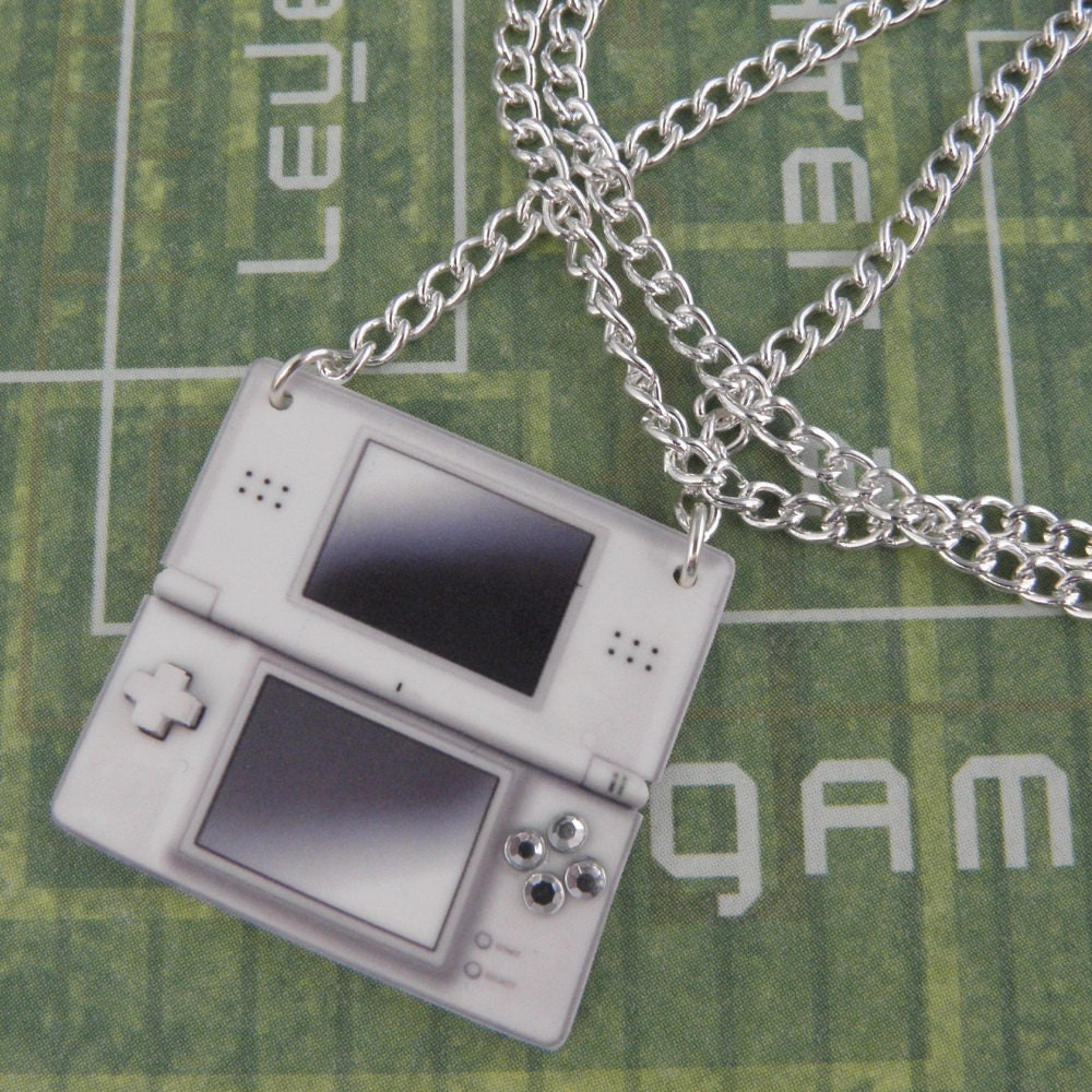 GIRL GAMER Nintendo DS Console Video Games Necklace  Geeky Video Games Jewellery  Gaming Geek Jewelry  Gamer Gifts